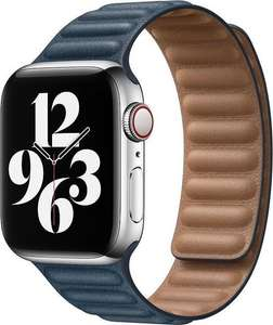 Apple Watch Leather Link - 40mm - Baltic Blauw - Large - voor Apple Watch SE/5/6