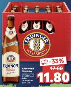 [Grensdeal] Erdinger Weisbier 20 x 0,5 Liter @ Kaufland Duitsland