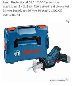 Bosch Professional GSA 12V-14 met 2x batterijen