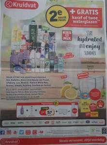 Gratis Karaf €8,99 of twee glazen €6,99 bij 2e halve prijs producten Kruidvat