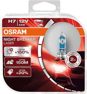 Osram Night Breaker Laser H7 +150% Duo Box (2 stuks) @ Amazon.nl