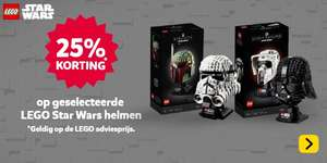 Intertoys - LEGO Star Wars helmen 25% korting