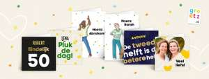 Gratis Kaartje via Greetz t.w.v. €4,45 (inclusief postzegel)