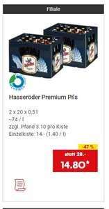 Grensdeal: Hasseröder Pils 2 kratten voor € 14,80 (samen 20 liter bier)!