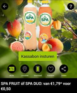Spa fruit of spa duo proberen voor 0,50