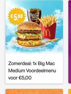 Big Mac menu voor €5