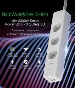7 daagse shipping Blitzwolf BW-SPH9 smart wifi stekkerdoos +2x usb