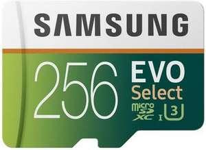 Samsung Micro SDXC 256GB EVO Select bij Amazon NL
