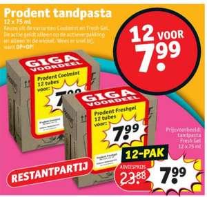 Prodent Freshgel 12st voor €7,99 [Kruidvat]