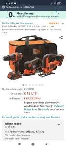 Black & Decker BCK31S1S accu boormachine, schuurmachine en decoupeerzaag