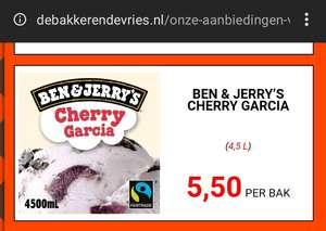 Ben & Jerry's Schepijs Cherry Garcia 4,5 liter (De Bakker en De Vries)