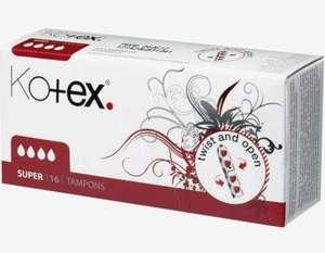 Kotex-tampons 24 verpakkingen van 16 stuks