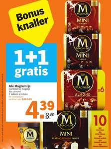 Alle Magnum IJs 1+1 Gratis @ Albert Heijn