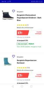 Bergstein laarsjes 17 euro bij bol.com! Verschillende kleuren en maten.