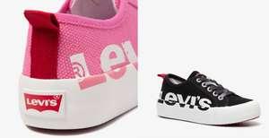 Levi's Canvas New Betty kindersneakers roze of zwart voor €19 per paar @ Scapino