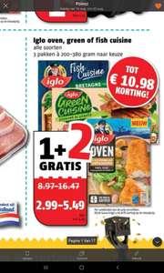 Iglo oven, green of fish cuisine 1+2 gratis @Poiesz