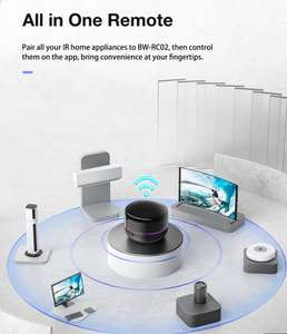 BlitzWolf® BW-RC02 Tuya WiFi Smart IR Infrared Remote Controller RGB Light Alexa/Google Home