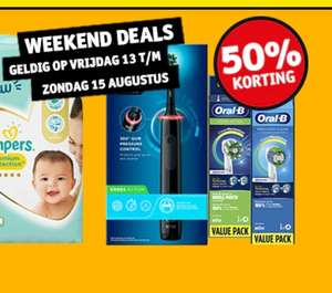50% weekendkorting Oral B elektrische tandenborstel