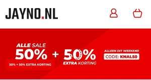 Jayno SUPER SALE alle sale 50% korting en dan extra 50%korting!