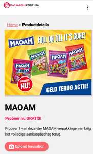 Gratis Maoam Snoep (cashback)