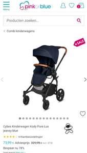 Cybex Kinderwagen Kody Pure Lux jeansy blue