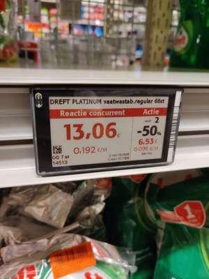 [GRENSDEAL BELGIË] Dreft platinum vaatwastabletten 136 stuks (Colruyt)
