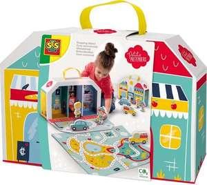 Winkelstraat speelkoffer en speelmat - Petits Pretenders