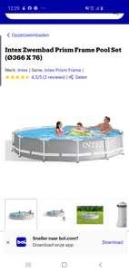 Zwembad 3.66 x 76 incl filterpomp