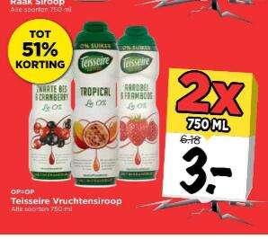 Teisseire Vruchten Siroop 75 CL 2 stuks Vomar