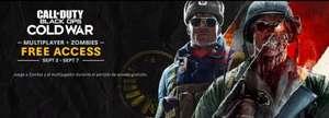 Gratis Cold War zombies + multiplayer week