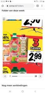 3 raak limonade voor 2,99 euro, ook puur (normaal 2,99 ps)