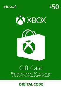 Xbox Live Europe Gift Card €50 (digitale code) voor €41,89 @ Eneba