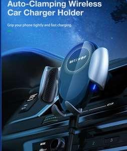 Blitzwolf BW-CW3 Qi draadloze auto oplader& telefoonhouder 15W 360º rotatie