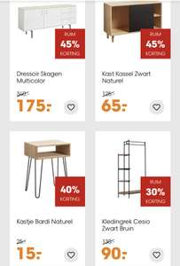 Zomeropruiming bij Kwantum, tot 45% korting op meubels