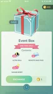 Pokemon Go Event Box (Remote Pass) 1 coin