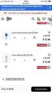 Durex bij etos 1+1 en 50 procent extra korting op paar producten