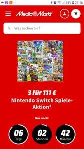 Grensdeal duitse mediamarkt 3 switch spellen voor 111 euro