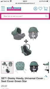 Verschillende Dooky producten voor de maxi cosi met korting bij van asten superstore