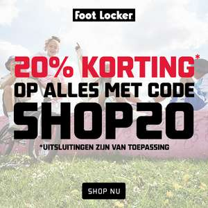 20% (extra) korting - ook op de sale @ Foot Locker