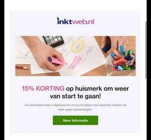 Inktweb.nl - 15% besparing op huismerk