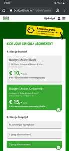 Budget Mobiel - Sim Only met onbeperkt internet bundel