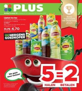 Lipton Ice tea 5 halen 2 betalen! @Plus