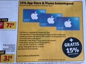 15% App Store en iTunes bonustegoed @kruidvat