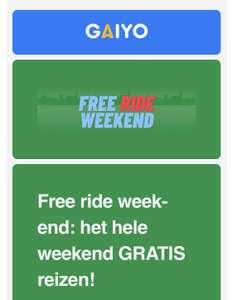 Free rides weekend Gaiyo app Max 7,50 euro retour op alles (oa Go Sharing OV Fiets Uber)