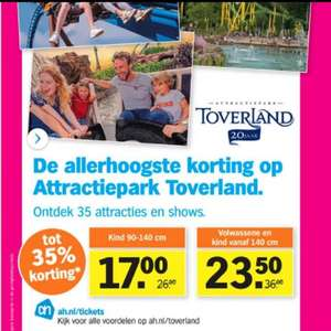 35% korting op Toverland tickets