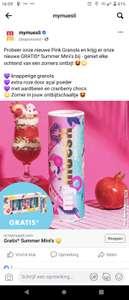 Gratis 6 Summer muesli mini's (bij bestelling €9,=)