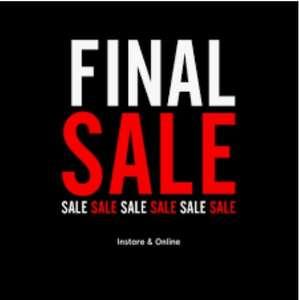 Final sale 50% korting op diverse kleding