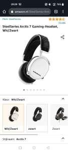 SteelSeries Arctis 7 Gaming-Headset, Wit/Zwart