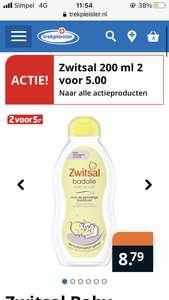 Zwitsal badolie 200 ml. Nu 2 voor 5 euro