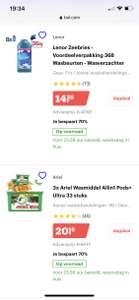 DAGDEAL BOL.COM 70% op Ariel en Lenor en 60% op Dash
